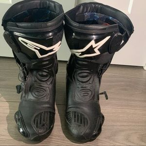 Alpine star racing boots black